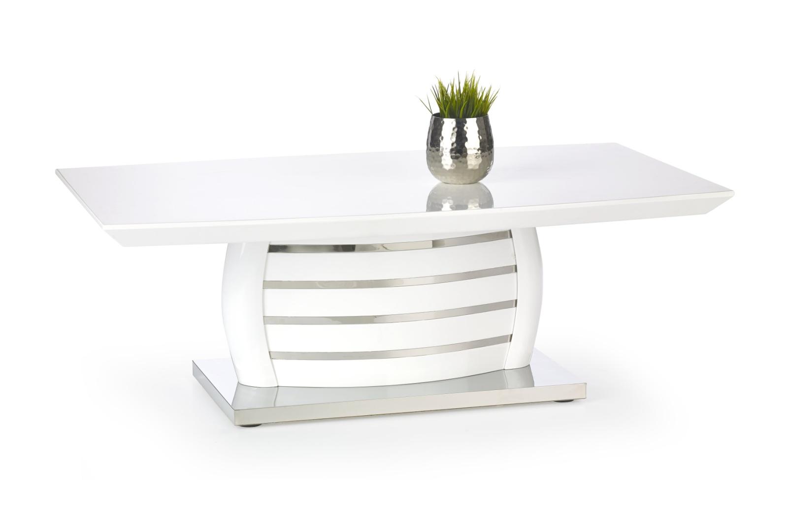 Smartshop Konferenční stolek ALISON, bílý lesk