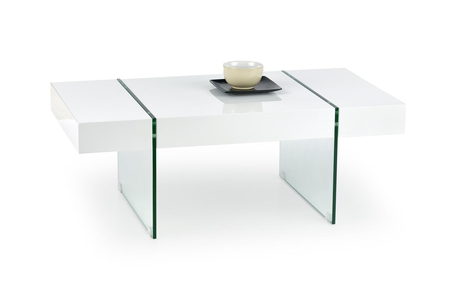 Halmar Konferenční stolek AMBER, bílý