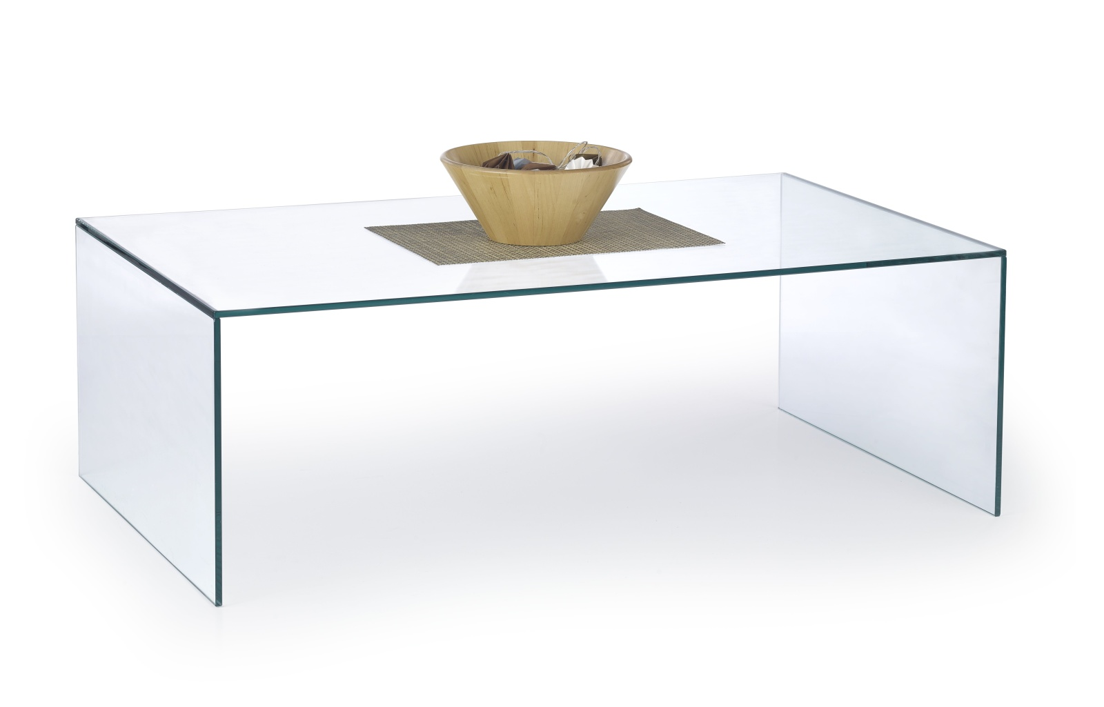 Halmar Konferenční stolek ASTURA, čiré sklo