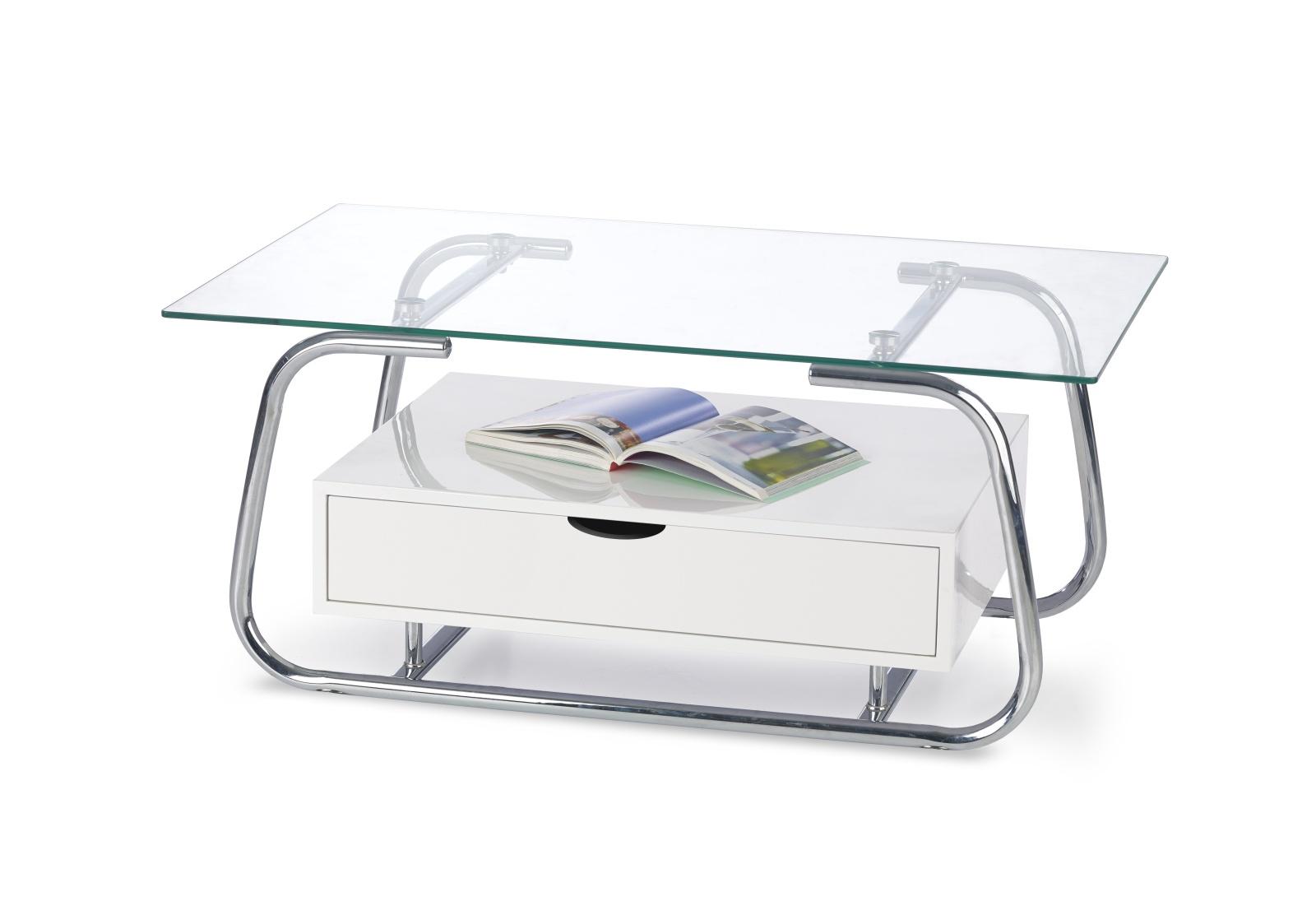 Halmar Konferenční stolek EMU, bílá