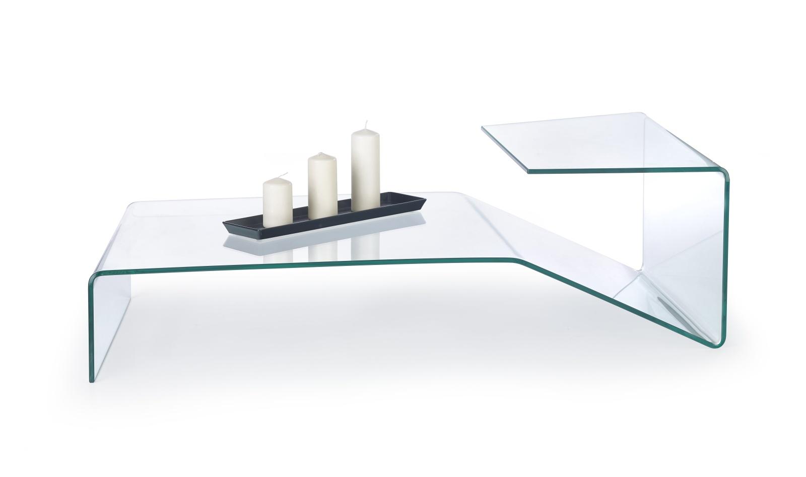Halmar Konferenční stolek ESPERA, čiré sklo