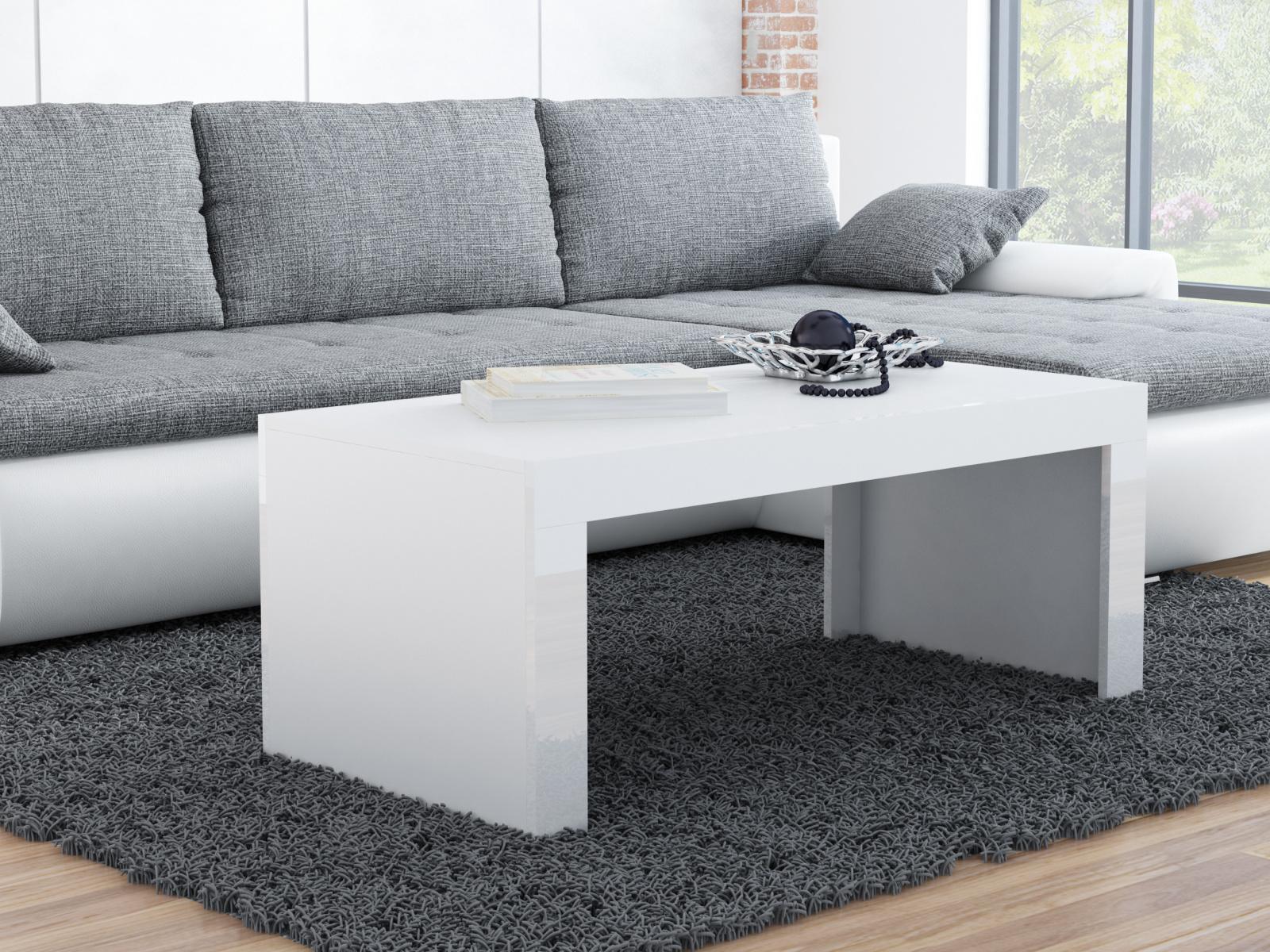 CAMA Konferenční stolek TESS, bílý mat/bílý lesk