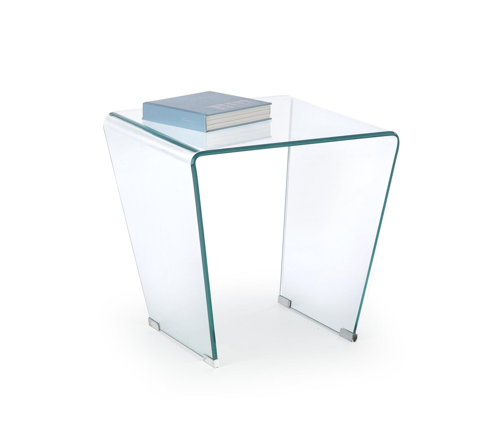 Halmar Konferenční stolek FIDIA, čiré sklo