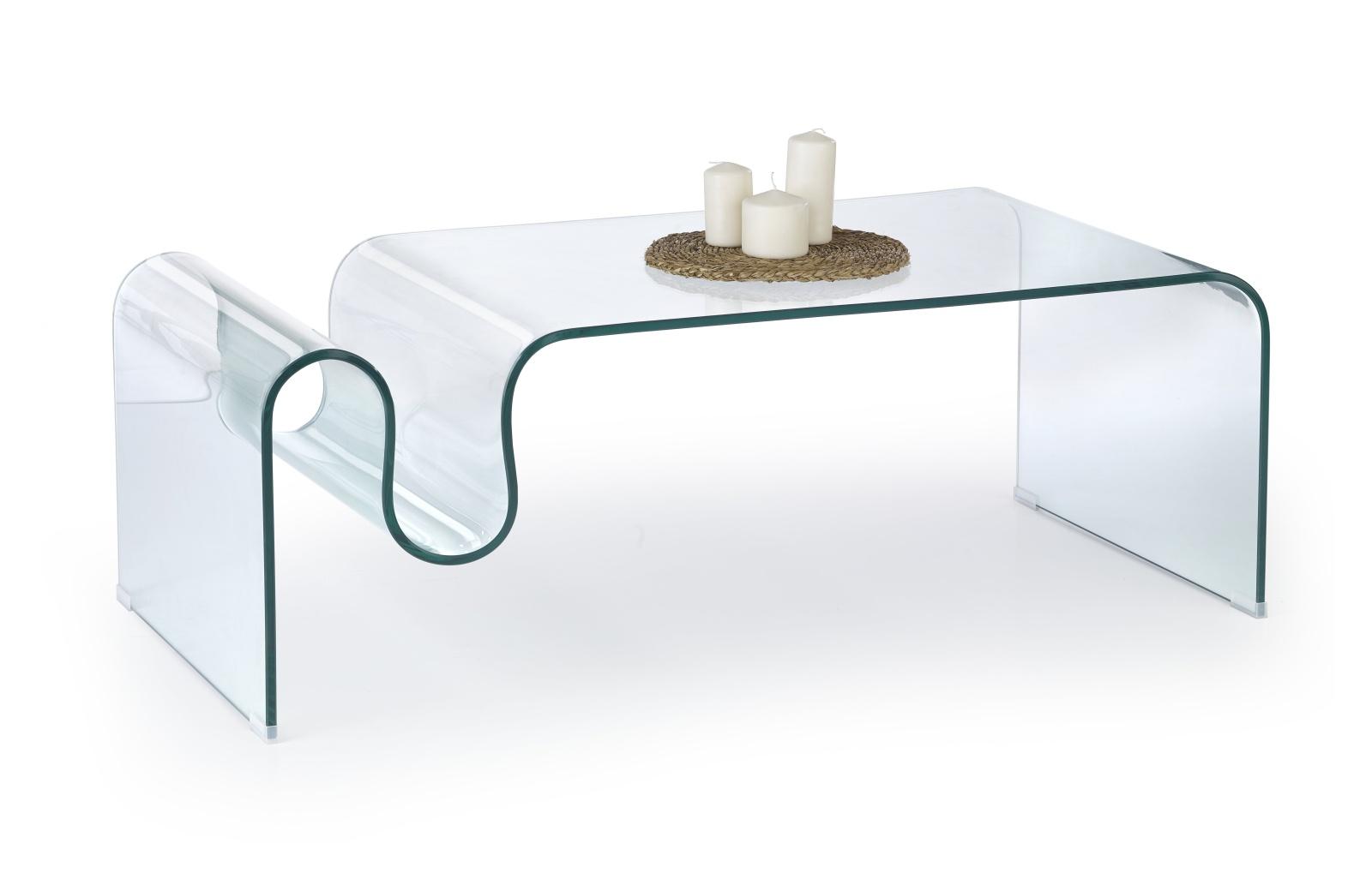 Halmar Konferenční stolek LIVONIA, čiré sklo