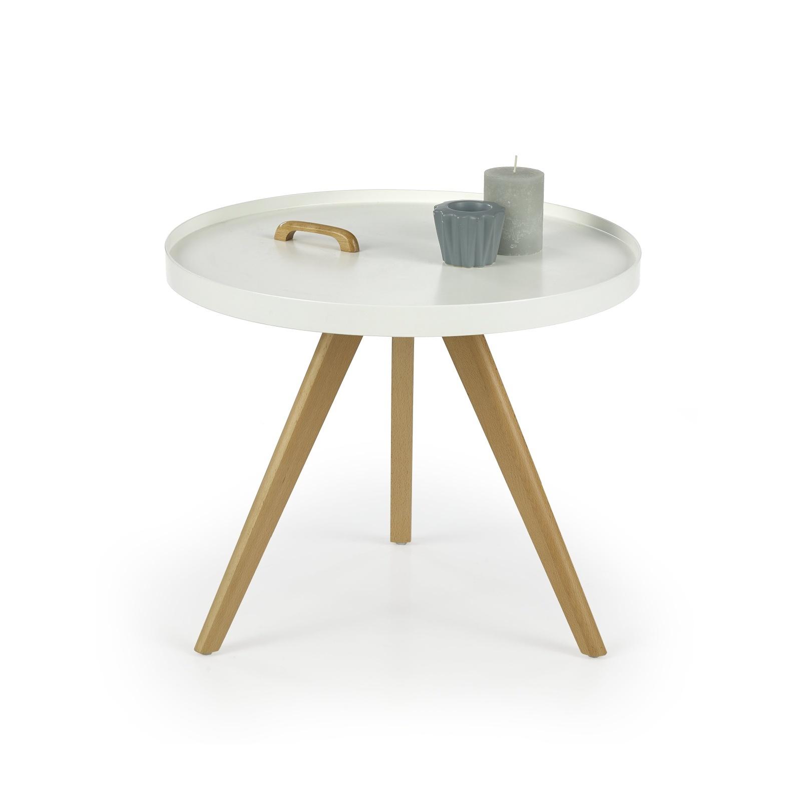 Halmar Konferenční stolek LUKA, bílý