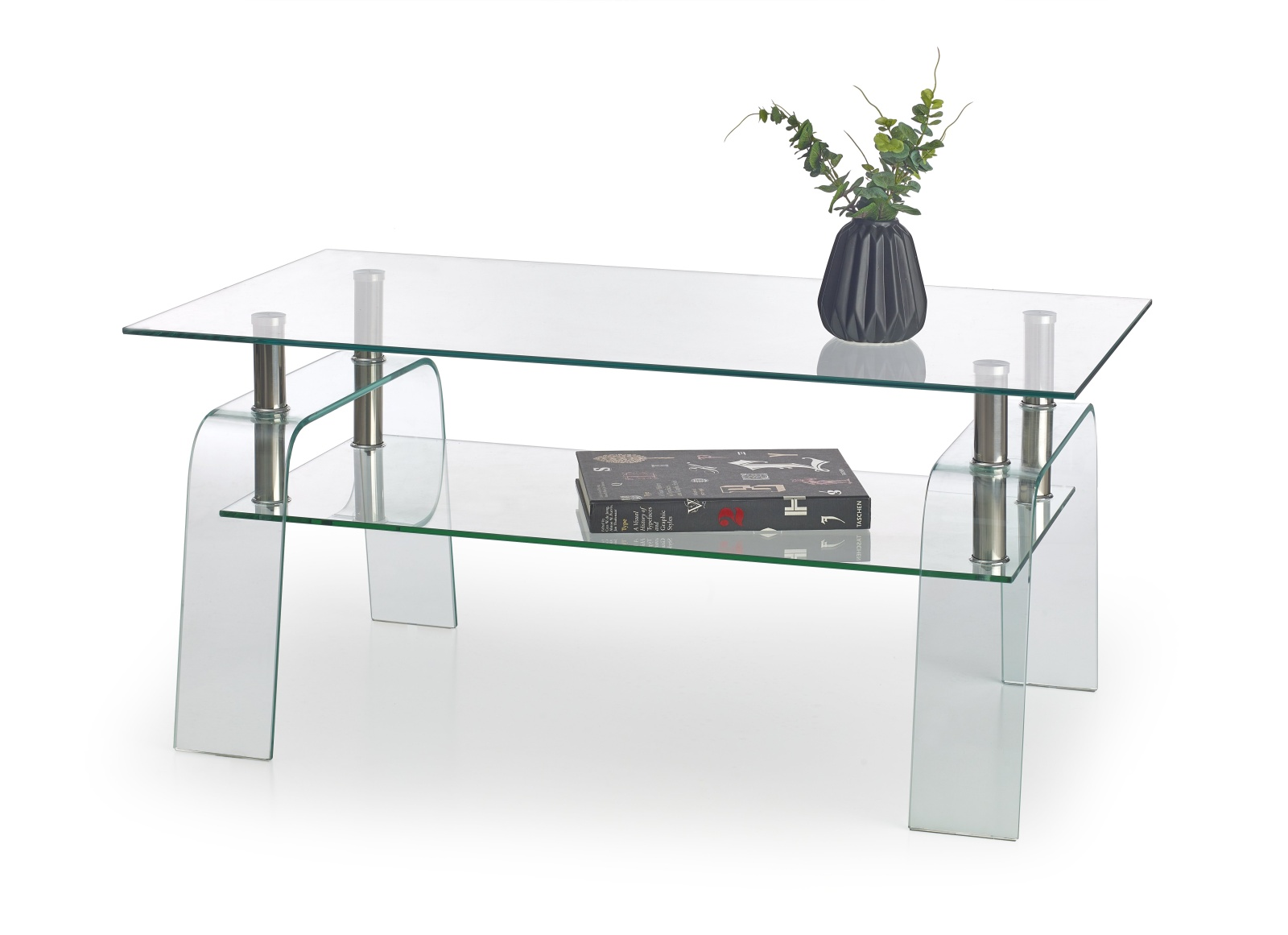 Halmar Konferenční stolek NAOMI, čiré sklo