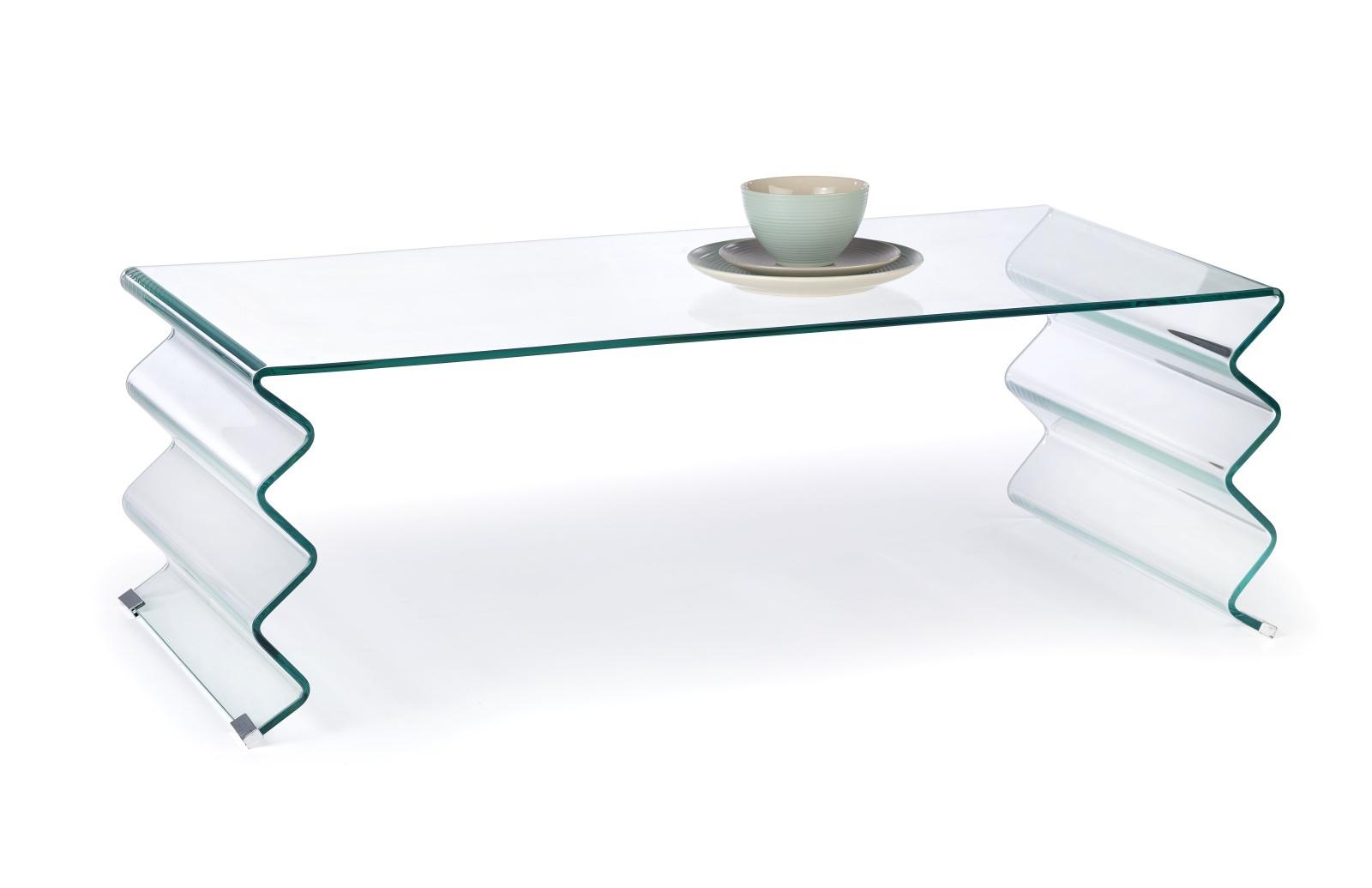 Halmar Konferenční stolek ROXANA, čiré sklo