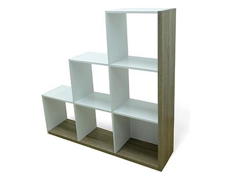 DEMEYERE STEIRS knihovna, bílá/dub sonoma
