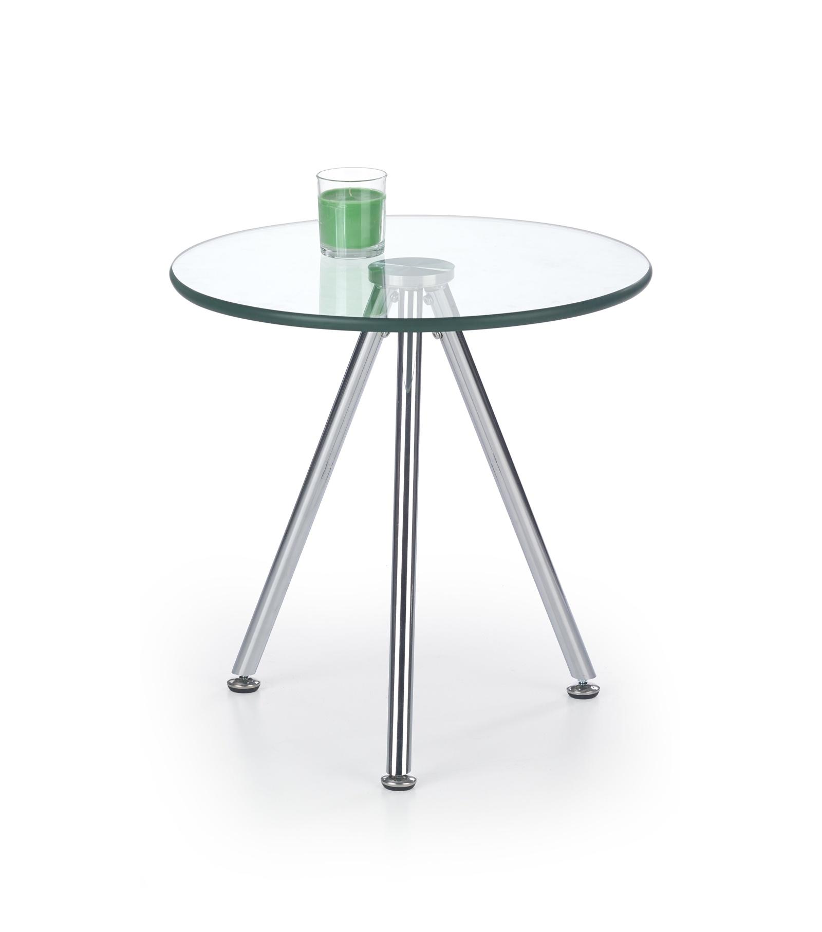 Halmar Konferenční stolek SOLO 3, čiré sklo