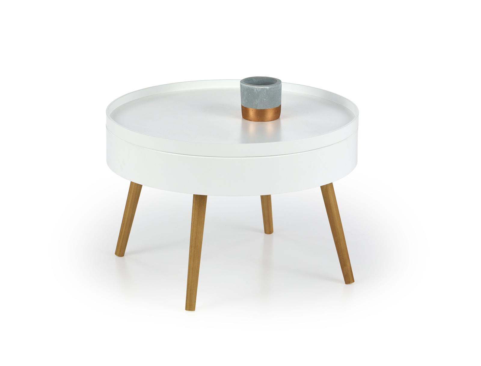 Halmar Konferenční stolek STARLET, bílý