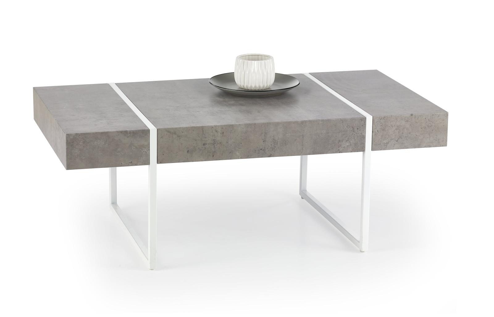 Konferenční stolek TIFFANY, šedý/bílý