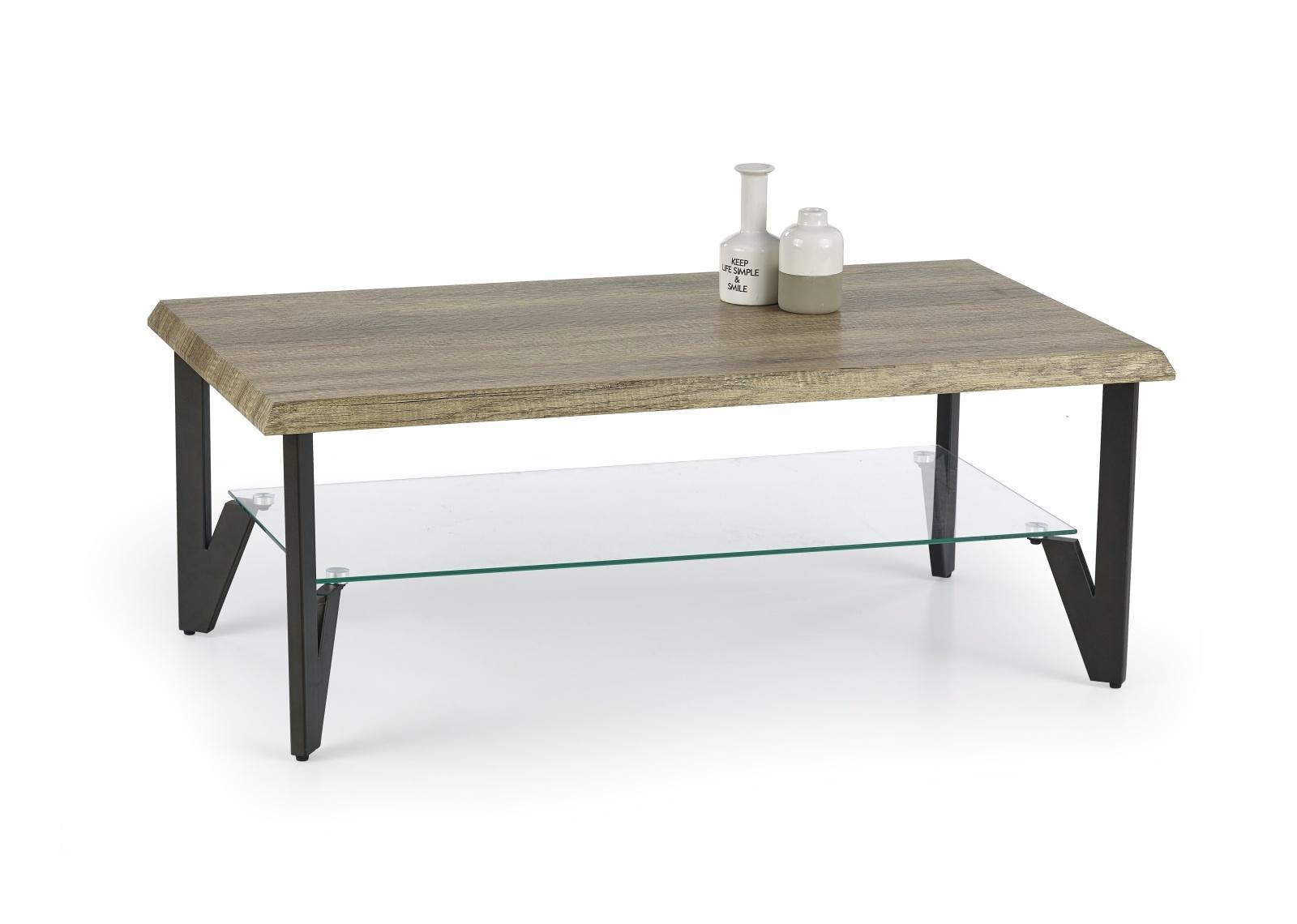 Halmar Konferenční stolek XENA, dub divoký/černý