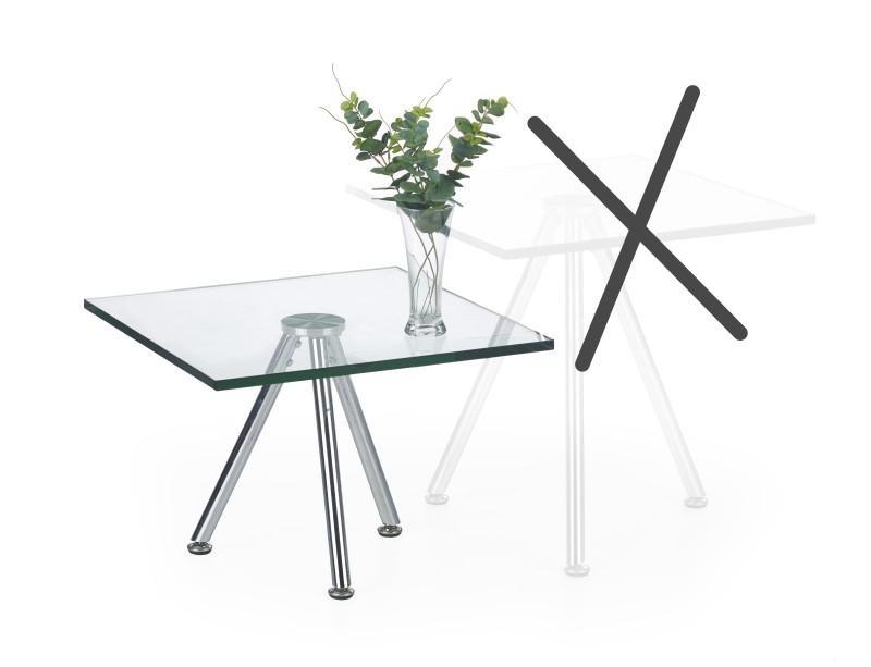 Halmar Konferenční stolek SOLO 1, čiré sklo