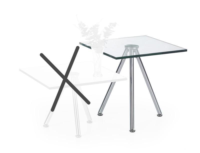 Halmar Konferenční stolek SOLO 2, čiré sklo