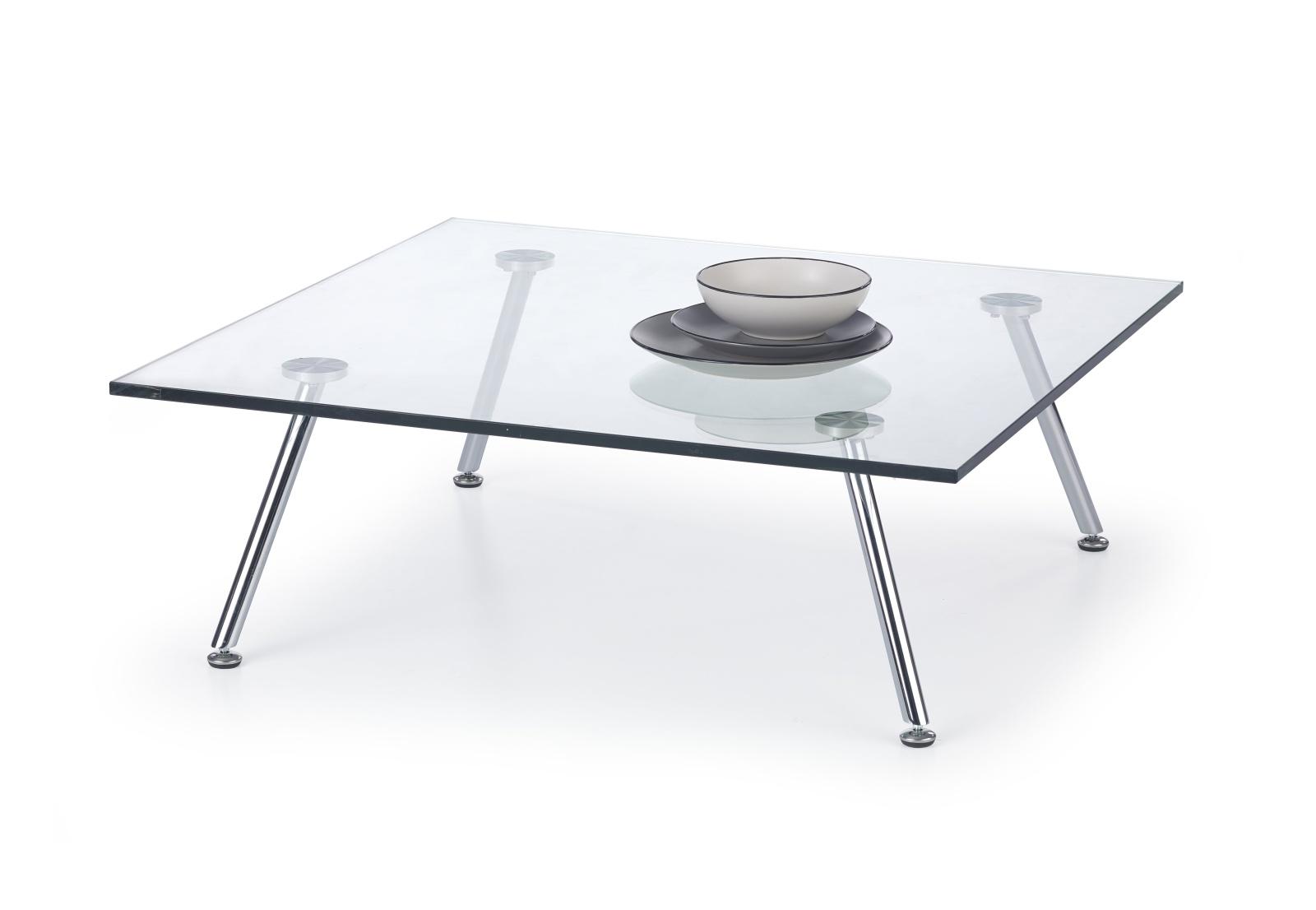 Halmar Konferenční stolek SOLO 4, čiré sklo