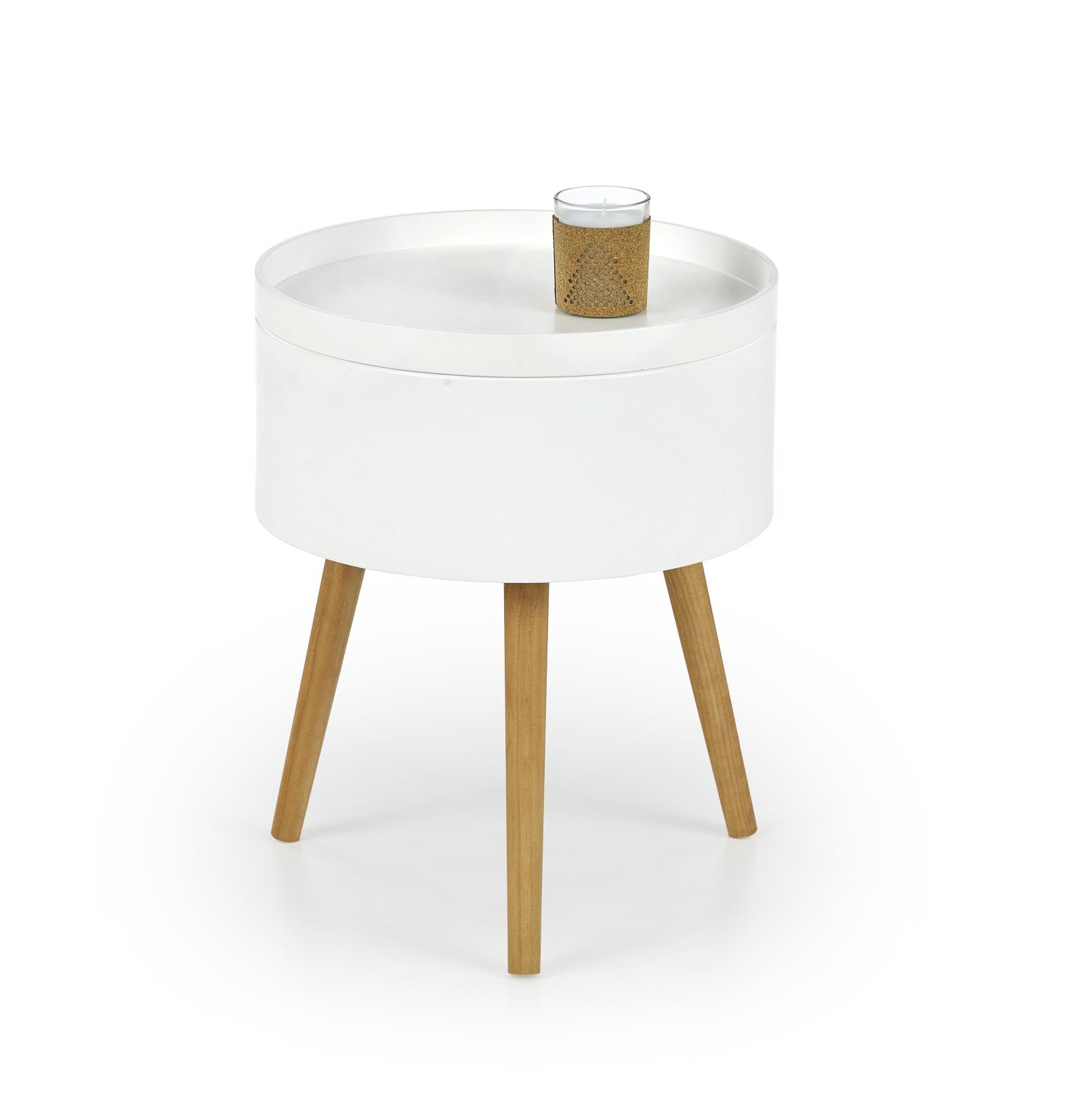 Halmar Konferenční stolek SUPRA, bílý