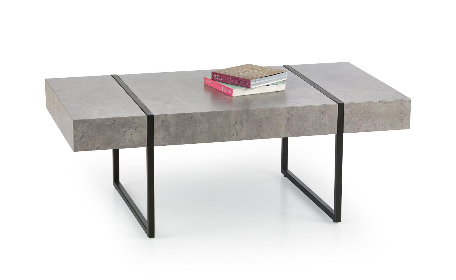 Konferenční stolek TIFFANY, šedý/černý