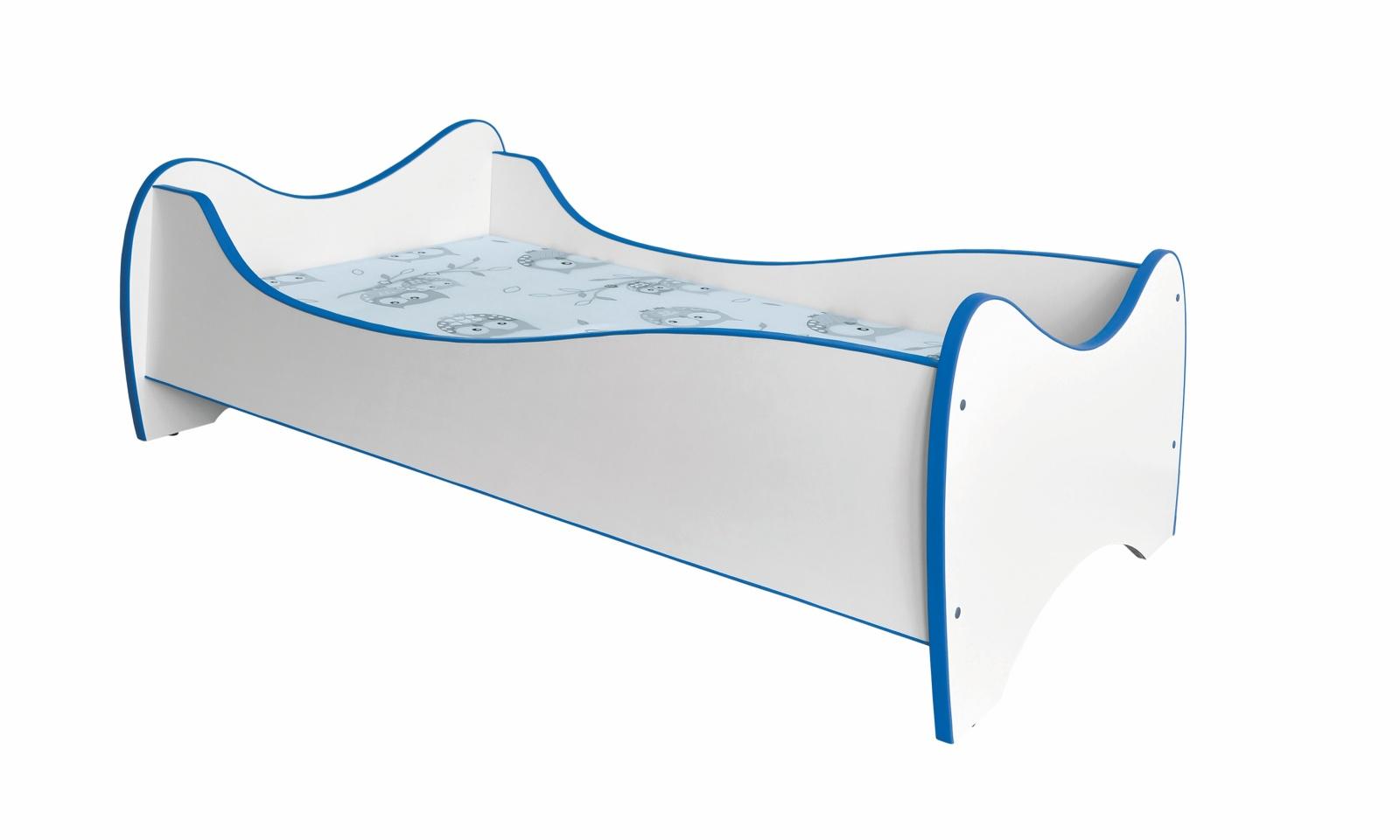 Dětská postel DUO, bílá/modrá