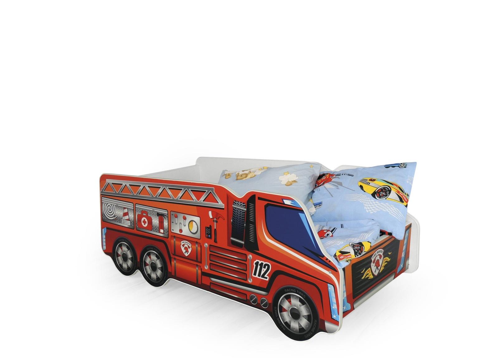 Halmar Dětská postel FIRE TRUCK, vícebarevná