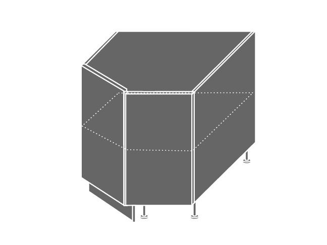 Extom QUANTUM, skříňka dolní rohová D12R 90, beige mat/bílá
