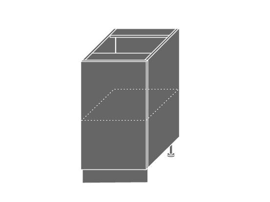 QUANTUM, skříňka dolní D1D 45, beige mat/bílá