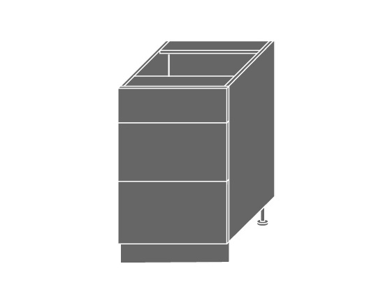 Extom QUANTUM, skříňka dolní D3M 50, beige mat/bílá