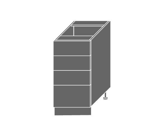 Extom QUANTUM, skříňka dolní D4M 40, beige mat/bílá