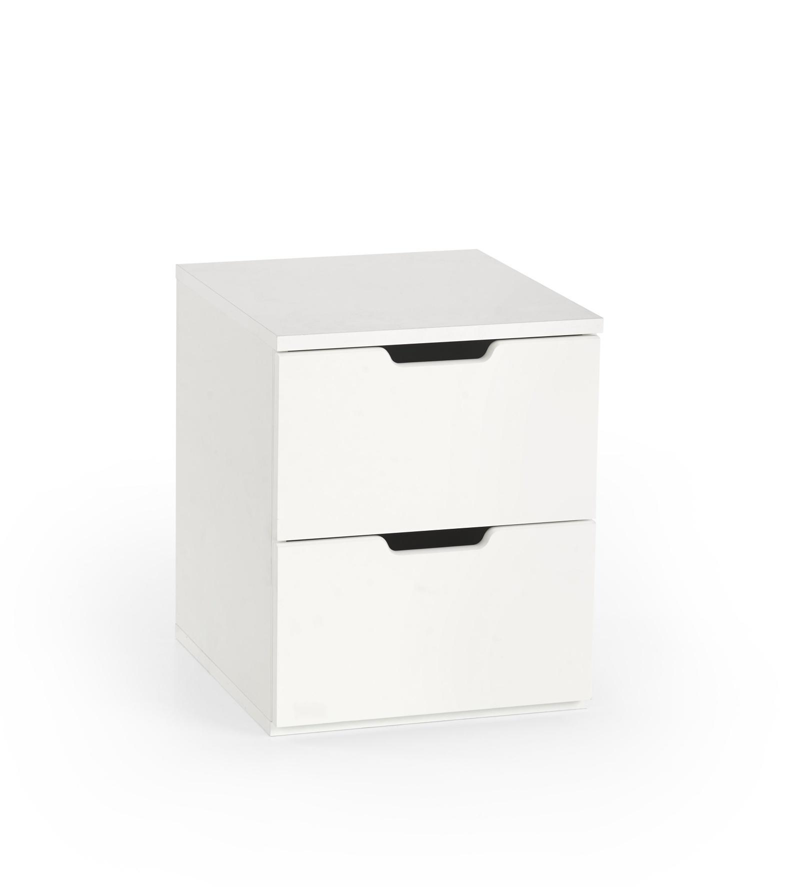 Halmar Noční stolek ESKIMO, bílá