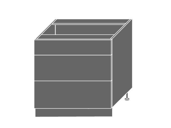 Extom QUANTUM, skříňka dolní D3M 80, vanilla mat/bílá
