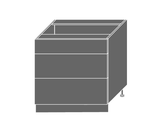 QUANTUM, skříňka dolní D3E 80, vanilla mat/bílá