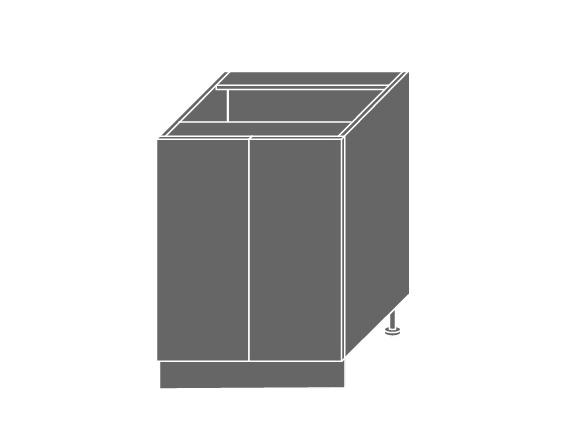 QUANTUM, skříňka dolní D11 60, vanilla mat/bílá