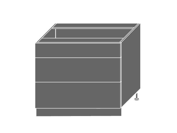 Extom QUANTUM, skříňka dolní D3E 90, vanilla mat/bílá