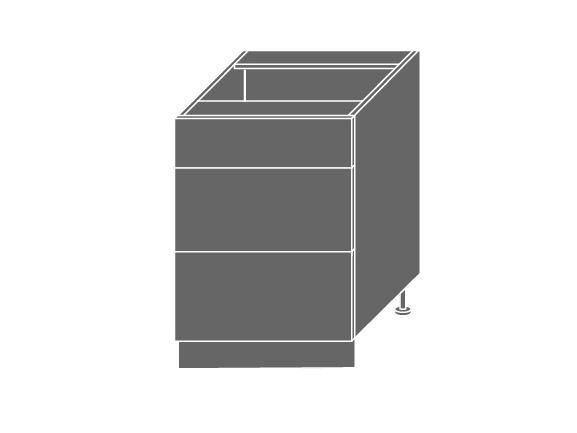 Extom QUANTUM, skříňka dolní D3M 60, vanilla mat/bílá