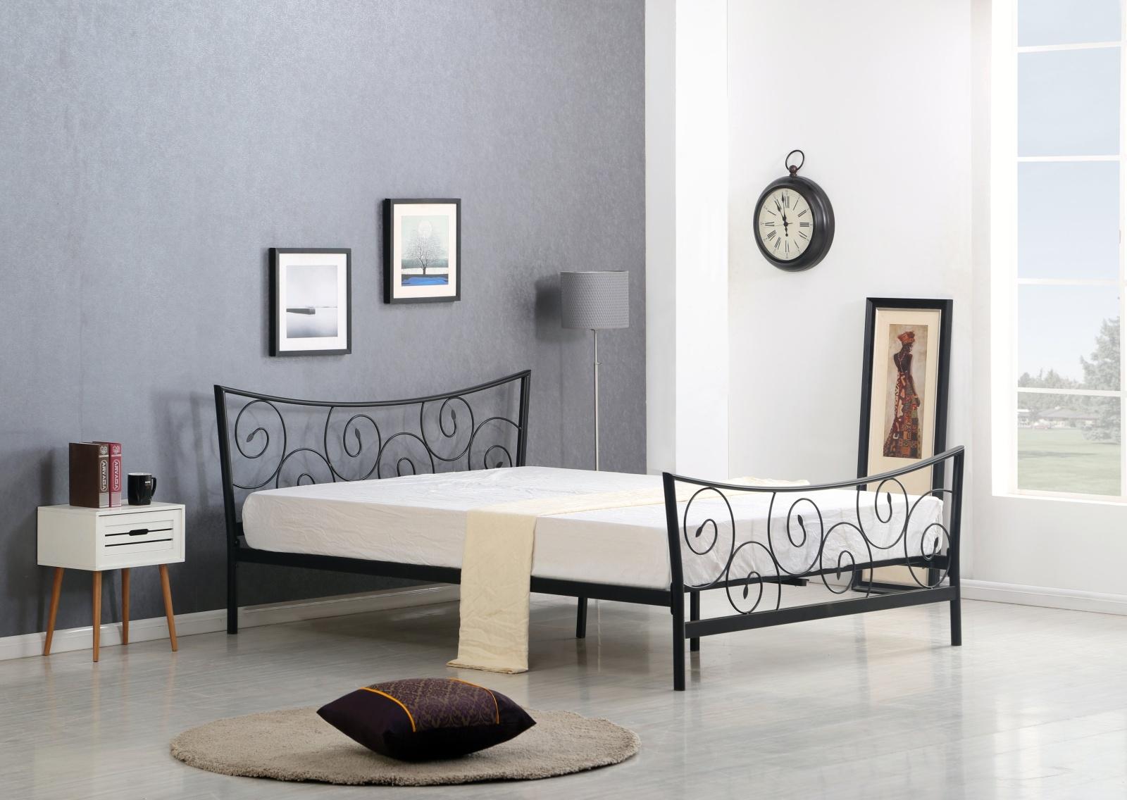 Halmar Postel RAMONA 160x200 cm, černá