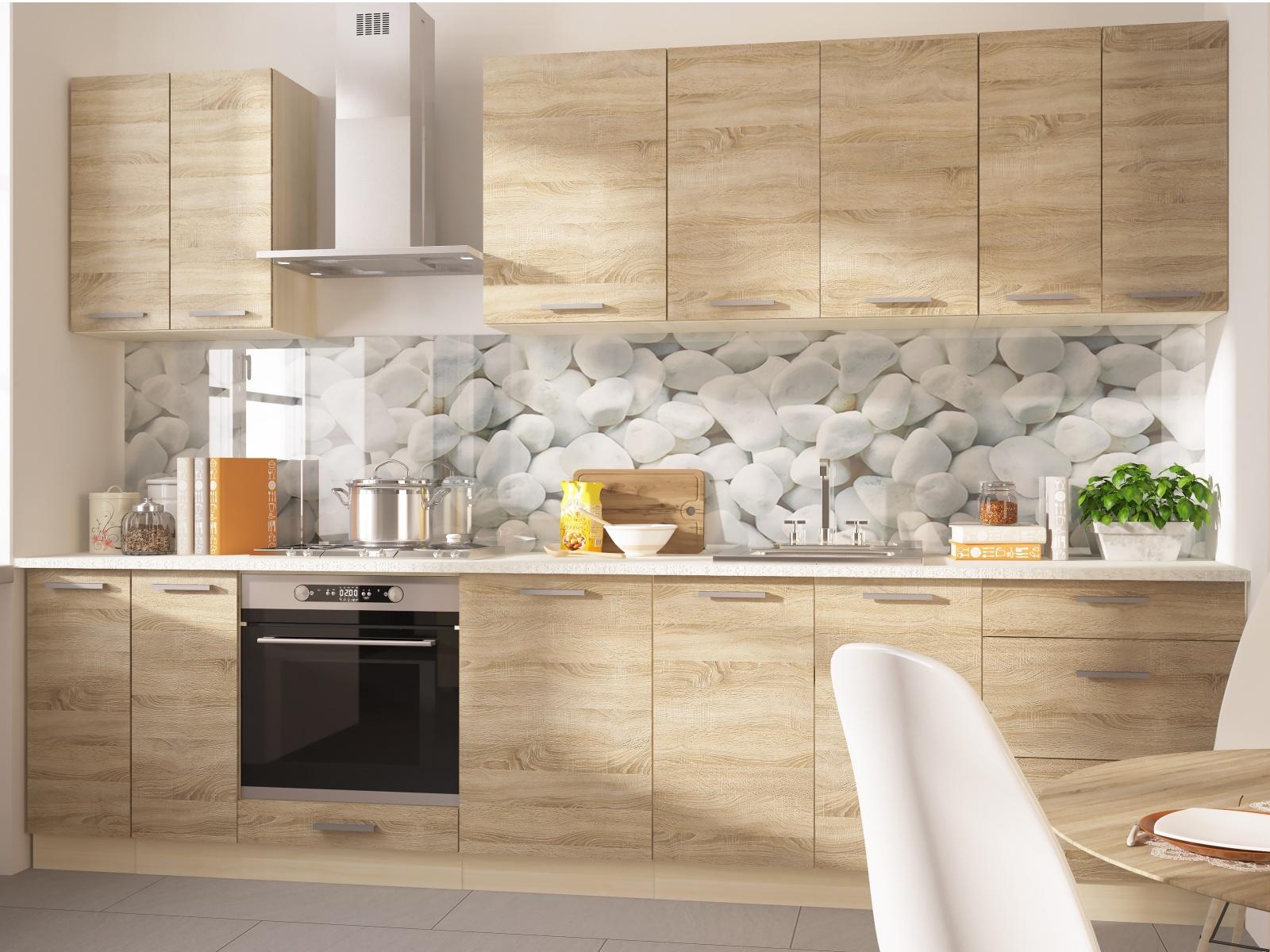 Extom Kuchyně SILVER+ 310/250 cm, korpus: jersey, barva: sonoma