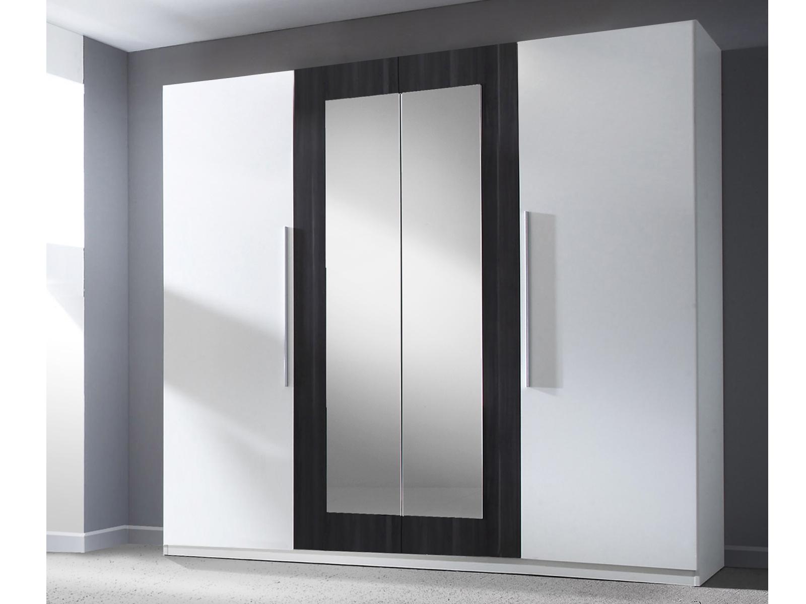 Smartshop VERA skříň se zrcadlem, bílá/ořech černý