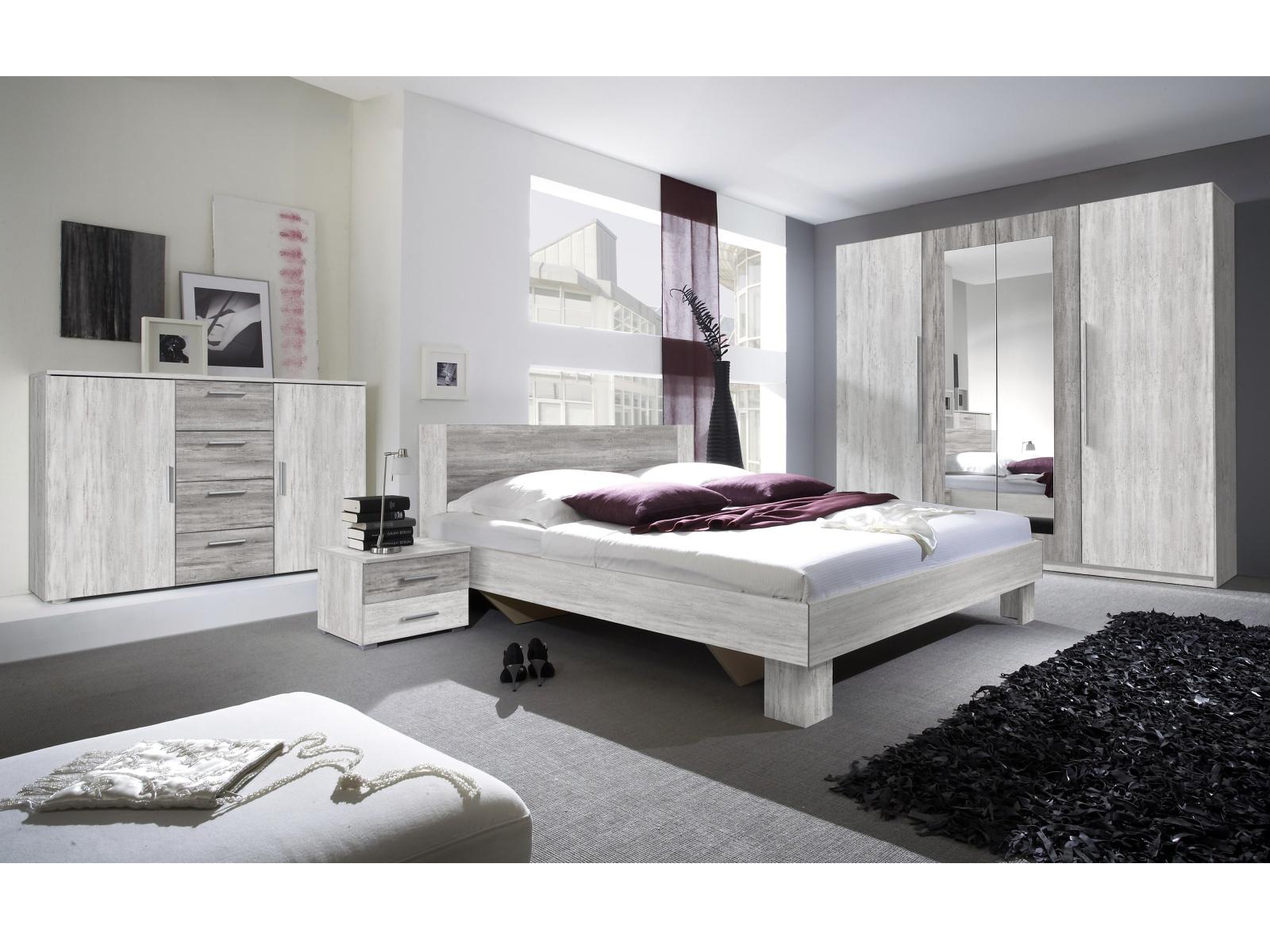 Smartshop VERA ložnice s postelí 160x200, borovice canyon světlá/borovice canyon tmavá