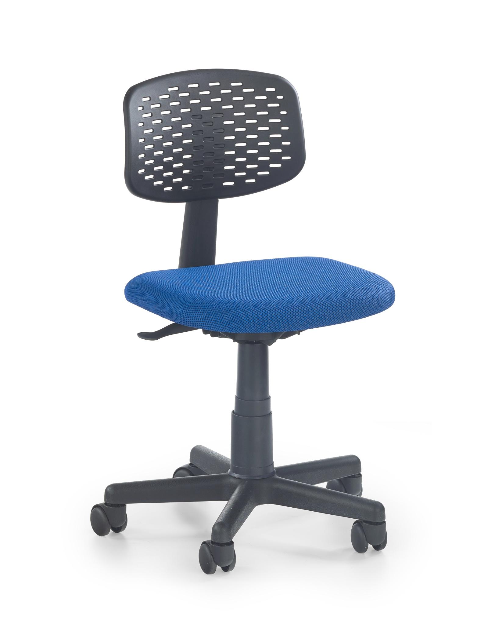 Halmar Dětská židle LOCO 2, černá/modrá