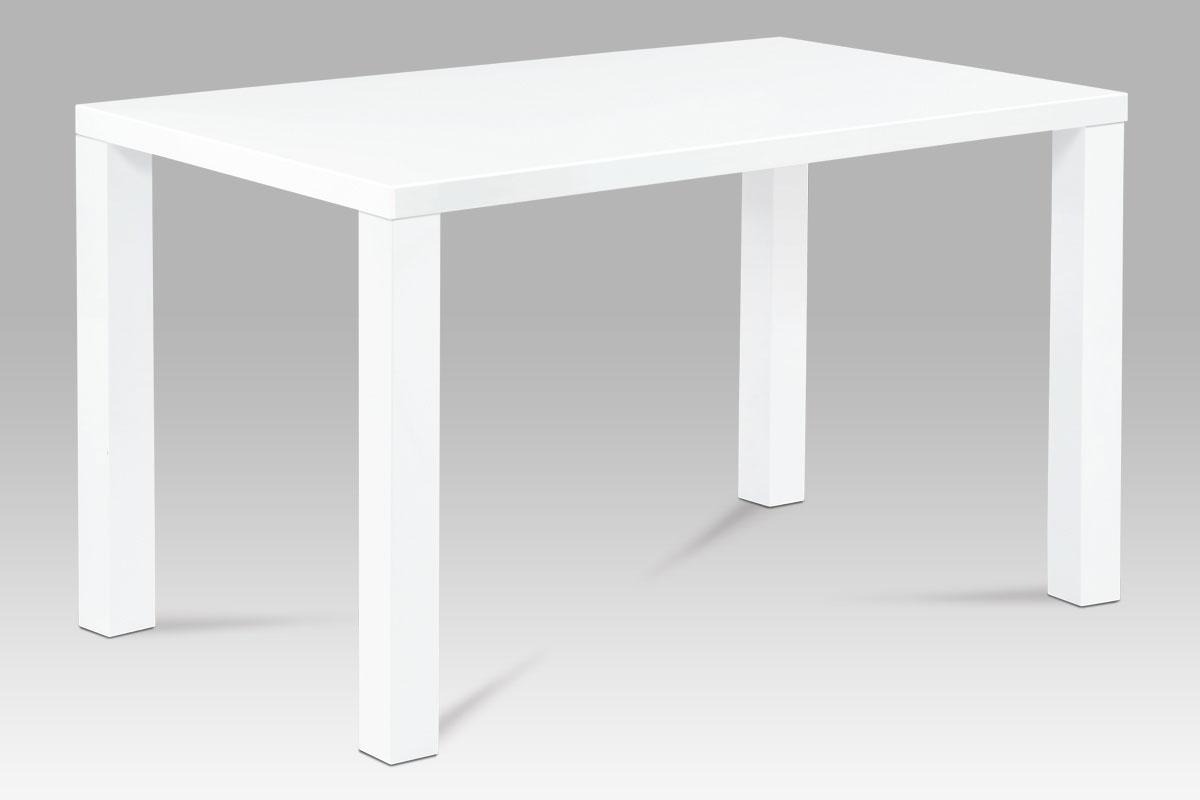 Smartshop Jídelní stůl SAT-3006 WT 120x80 cm, vysoký lesk bílý