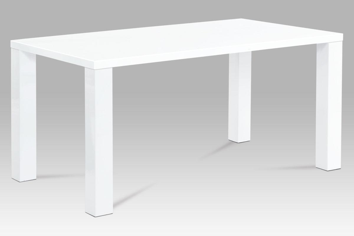 Smartshop Jídelní stůl SAT-3008 WT 160x90 cm, vysoký lesk bílý