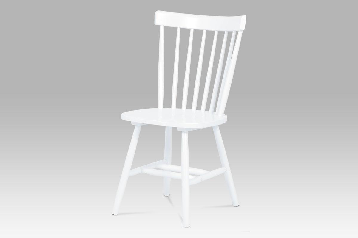 Smartshop Jídelní židle ZAUC-003 WT, bílá celodřevěná
