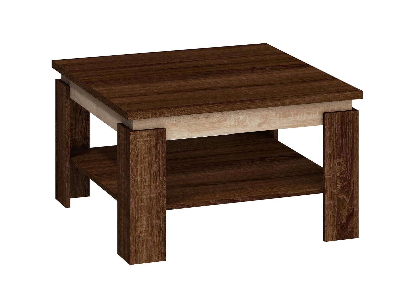 Konferenční stolek ALFA, dub sonoma tmavý/dub sonoma světlý