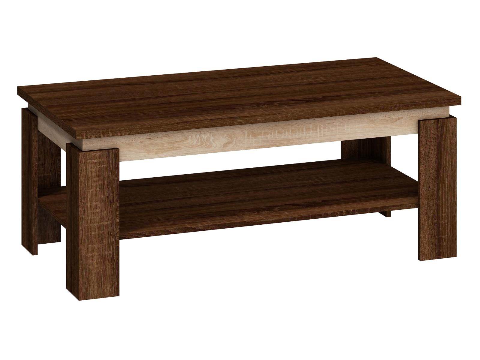 MORAVIA FLAT Konferenční stolek BETA, dub sonoma tmavý/dub sonoma světly