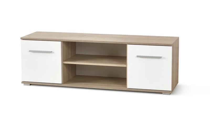Halmar Televizní stolek LIMA RTV1, dub sonoma/bílá