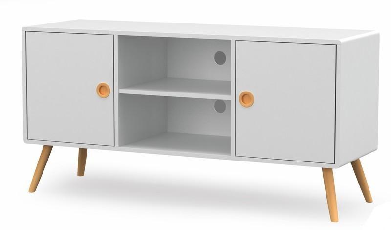 Halmar Televizní stolek MALMO RTV1, bílá/buk