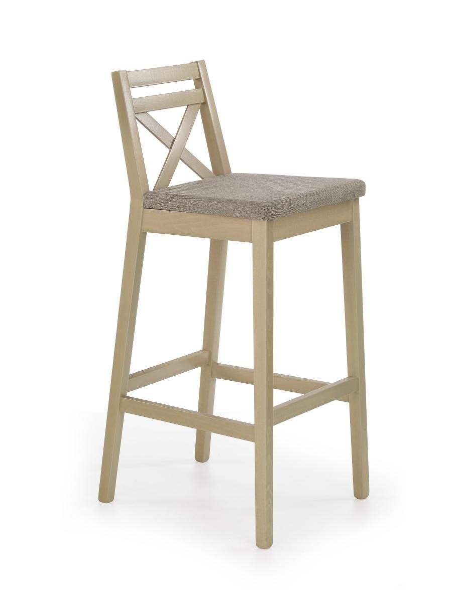 Halmar Barová židle vysoká BORYS, dub sonoma