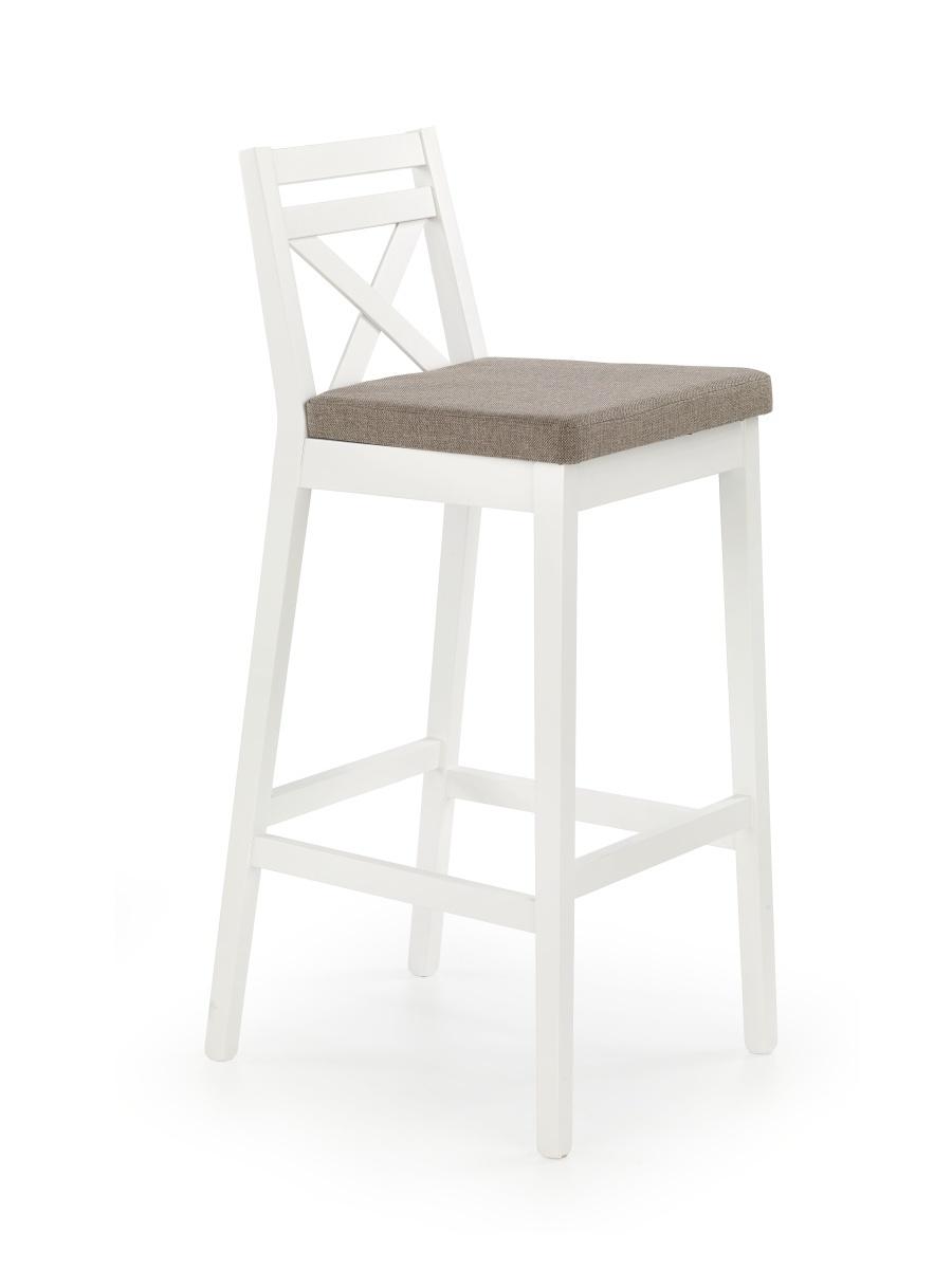 Halmar Barová židle vysoká BORYS, bílá