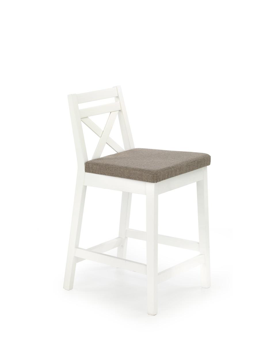 Halmar Barová židle nízká BORYS, bílá
