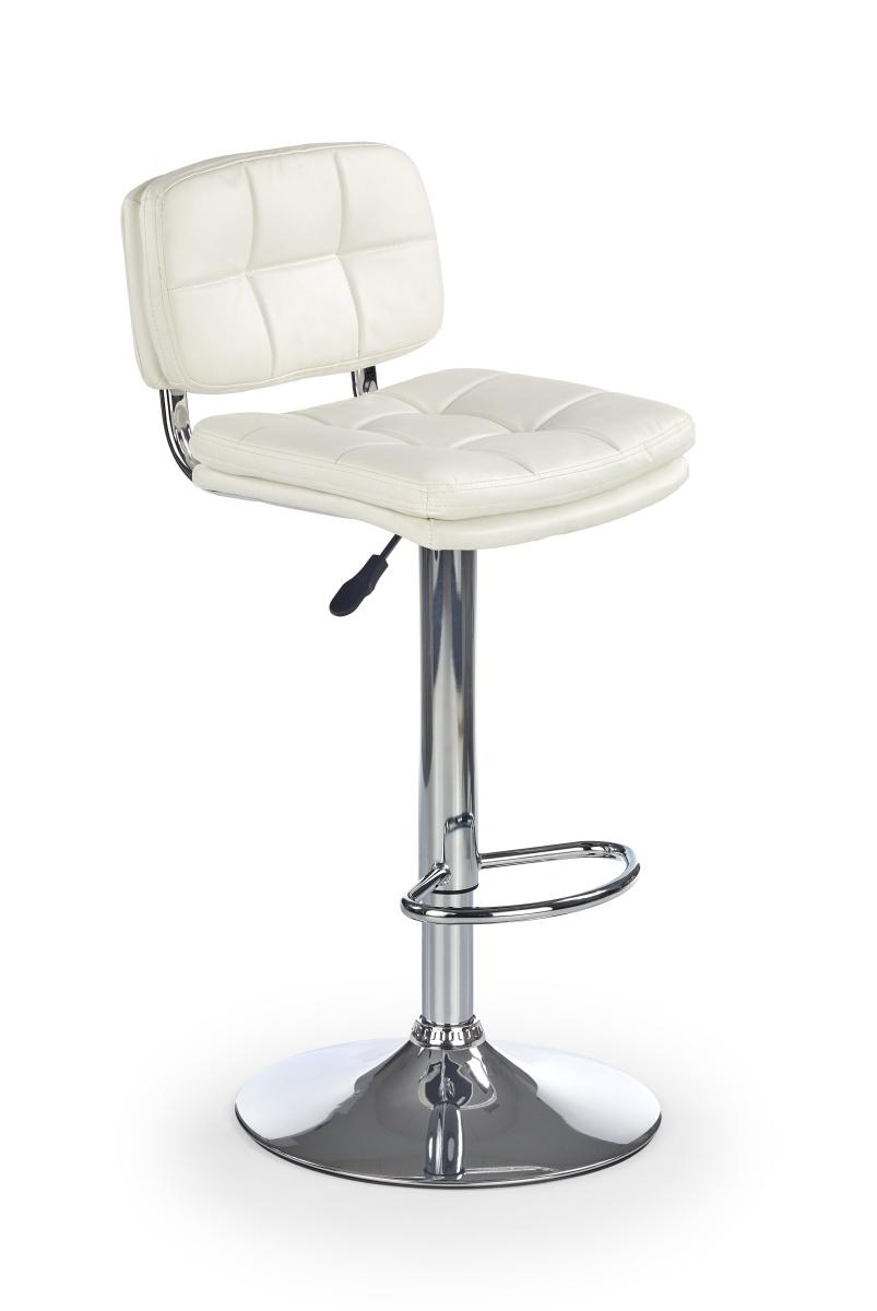Halmar Barová židle H75, bílá