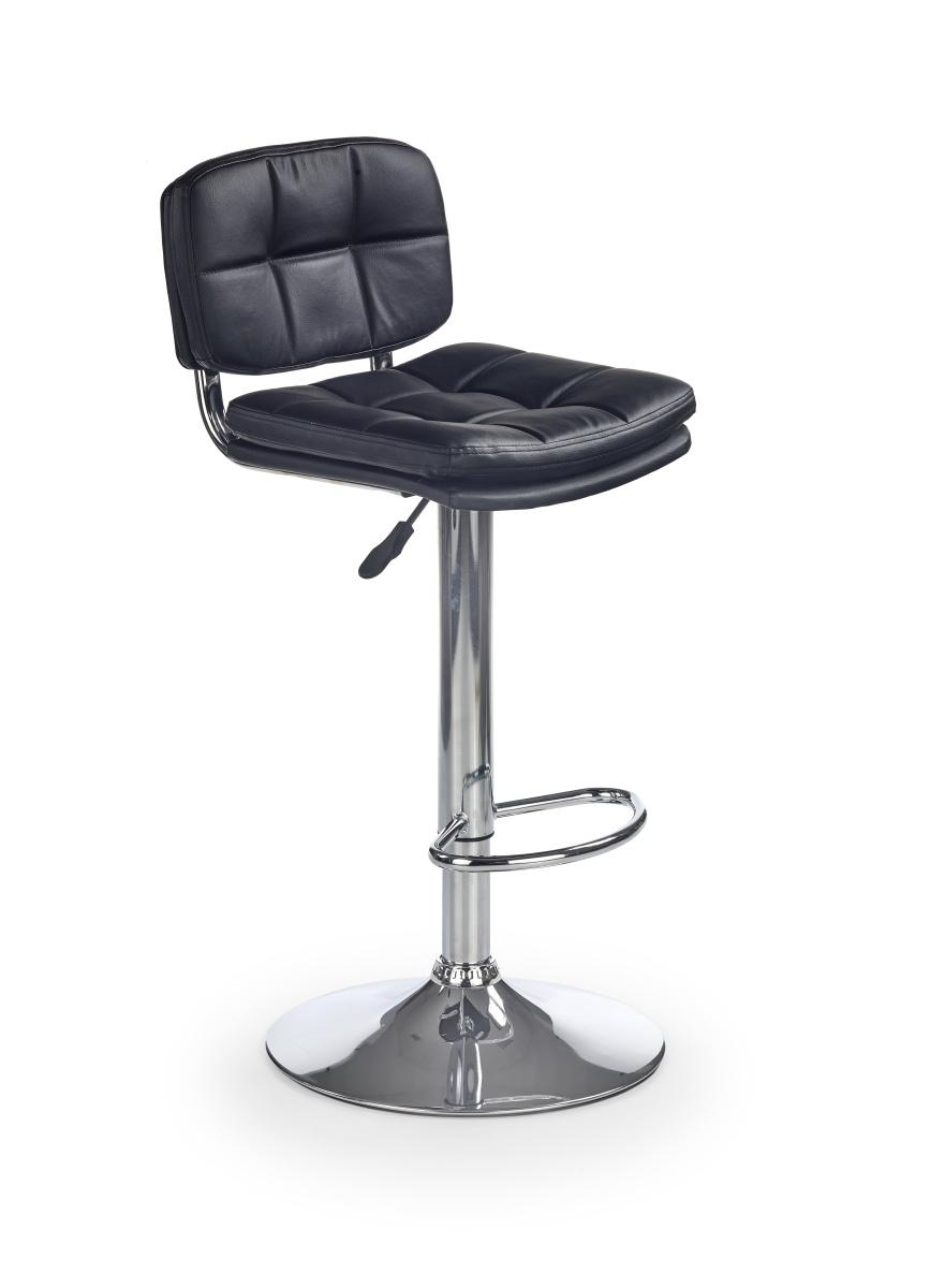 Halmar Barová židle H75, černá